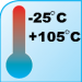 Operating Temperatures from -25°C to 105°C