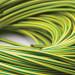ZH4 Zero Halogen Flame Retardant Sleeving - Green/Yellow - 4mm I/D