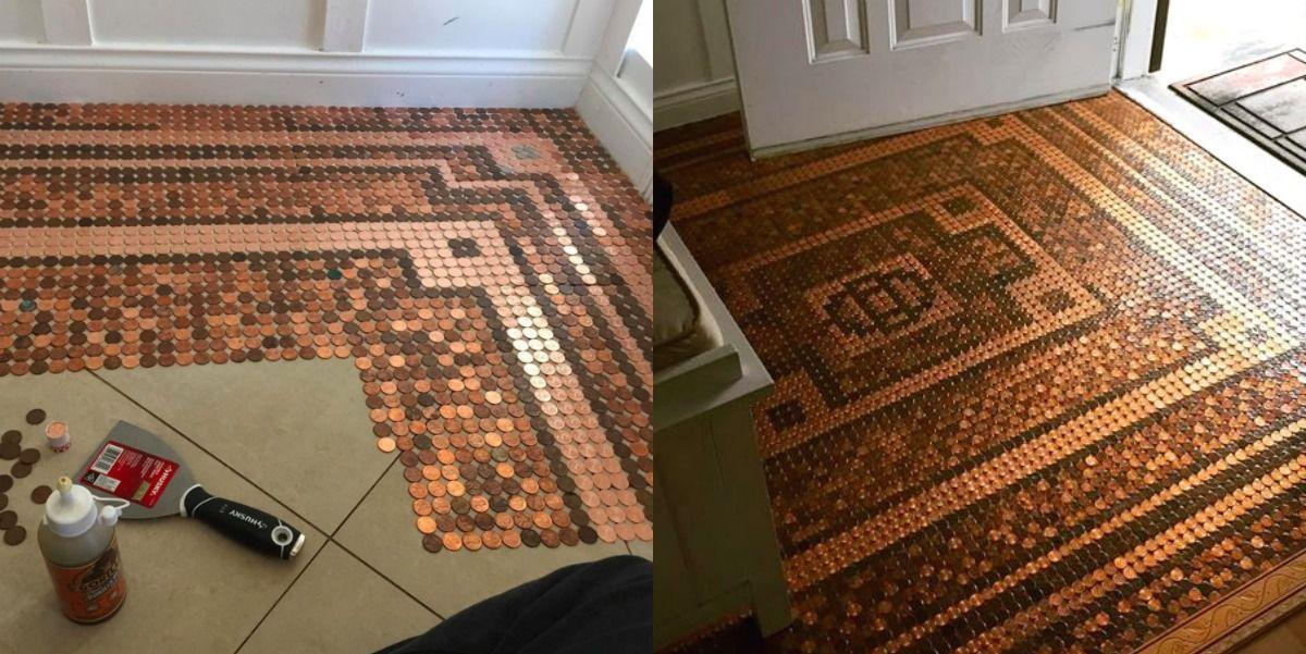 Epoxy Penny Floor