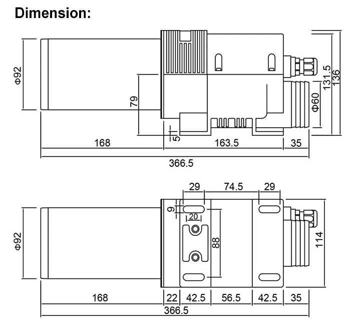 LHS61L Dimensions Diagram