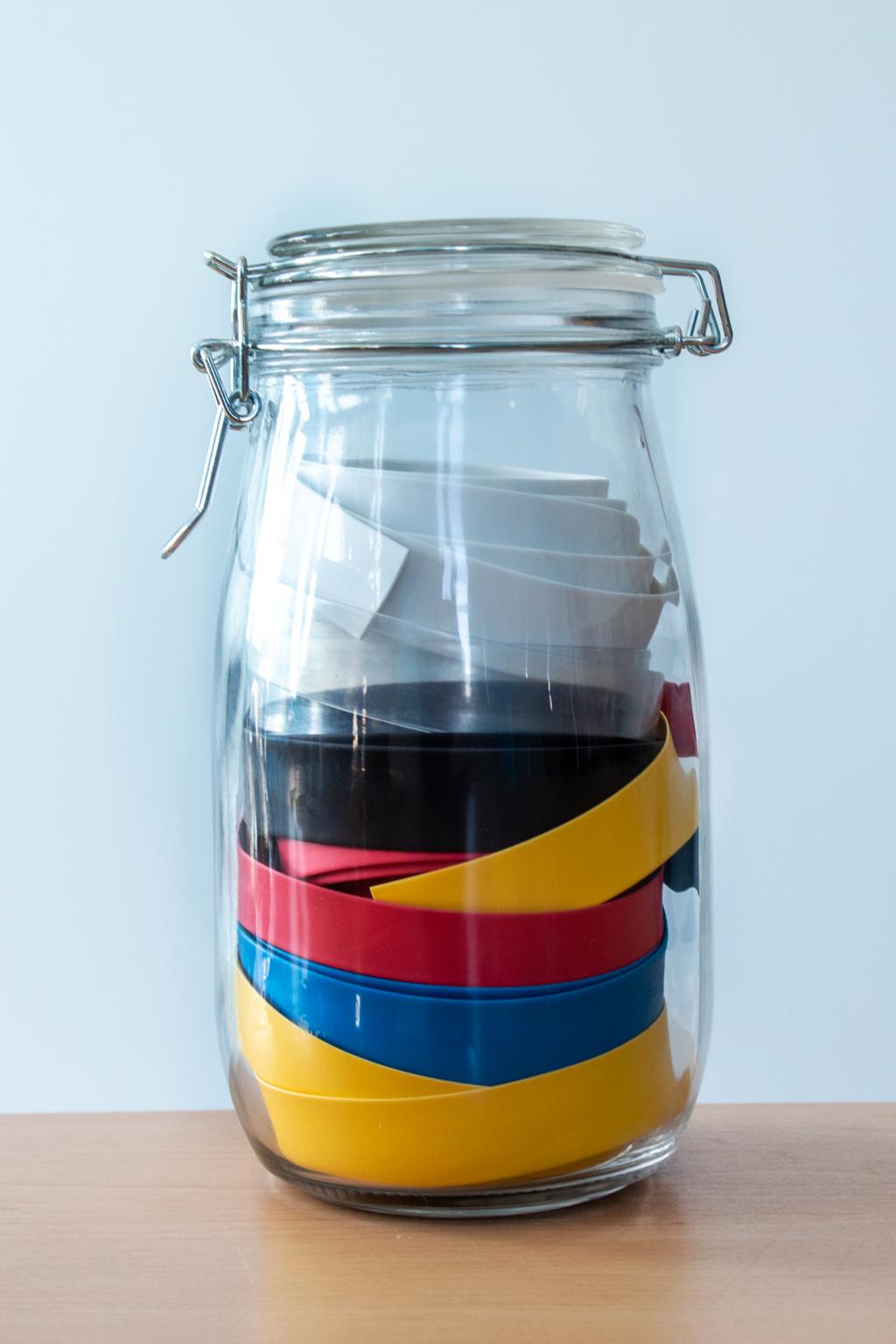 Jar containing heatshrink reels