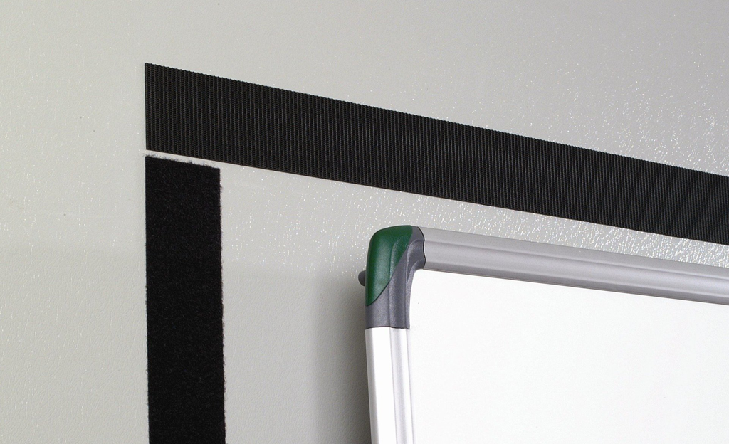 Velcro Heavy Duty Strips on wall with whiteboard